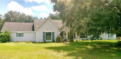 Crystal River Single Family Home For Sale: 6083 N McKree Terrace