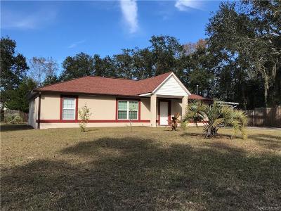 Homosassa Single Family Home For Sale: 6811 W Merrivale Lane