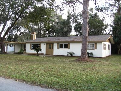 Crystal River Single Family Home For Sale: 9520 W Plantation Lane