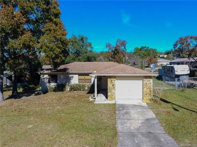 Homosassa Single Family Home For Sale: 5825 W Allspice Place