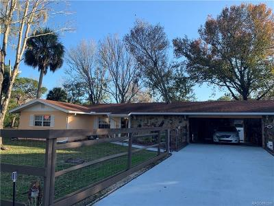 Crystal River Single Family Home For Sale: 9740 W Green Lane