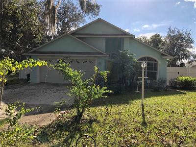Inverness FL Single Family Home For Sale: $165,000