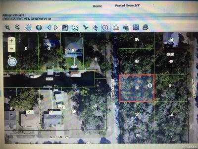Crystal River Residential Lots & Land For Sale: G NW 18th Court