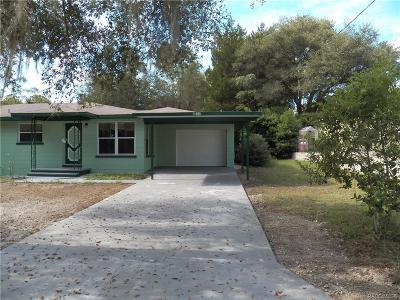 Dunnellon Single Family Home For Sale: 11960 N Ellsworth Terrace