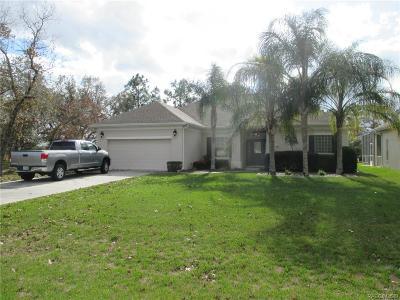 Homosassa Single Family Home Sold: 16 Deerwood Drive