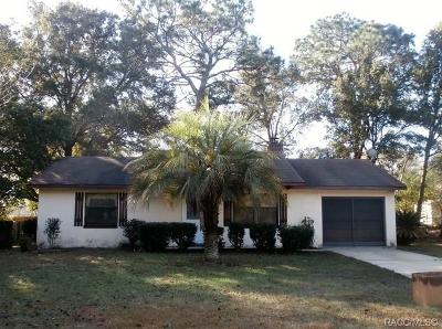 Dunnellon Single Family Home For Sale: 20160 SW 80th Place Road