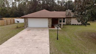 Dunnellon Single Family Home For Sale: 21426 SW Peach Blosson Street