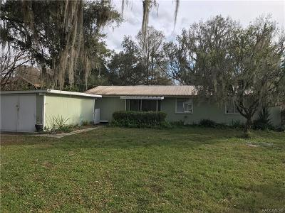 Floral City Single Family Home For Sale: 9360 E Tsala Apopka Drive