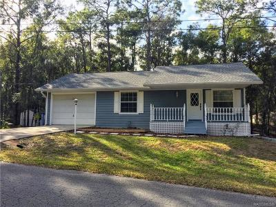 Inverness FL Single Family Home For Sale: $155,500