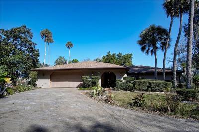 Homosassa Single Family Home For Sale: 4361 S Purslane Drive