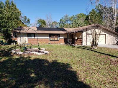 Crystal River Single Family Home For Sale: 7531 W Seven Rivers Drive