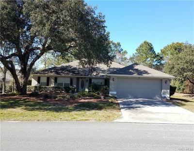 Homosassa Single Family Home For Sale: 4 Black Willow Court N
