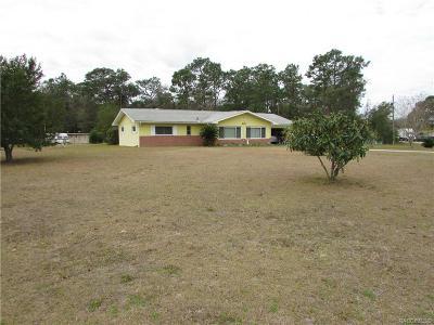 Homosassa Single Family Home For Sale: 4148 S Alabama Avenue