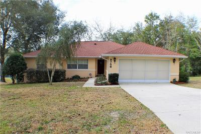 Dunnellon Single Family Home For Sale: 9756 SW 196th Circle