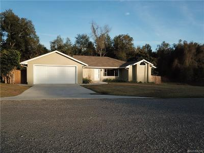 Inverness Single Family Home For Sale: 839 Sweet Pine Point