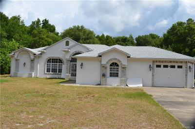 Crystal River Single Family Home For Sale: 8089 W Pine Bluff Street