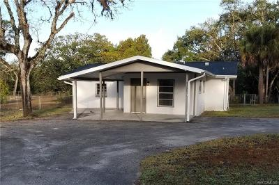Homosassa Single Family Home For Sale: 4331 S Tonya Terrace