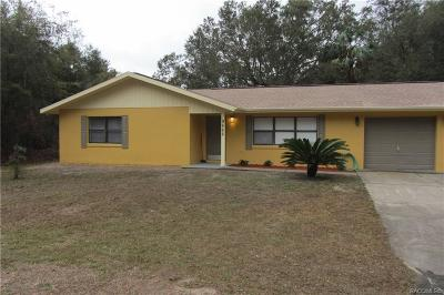 Crystal River Single Family Home For Sale: 9662 W Green Lane