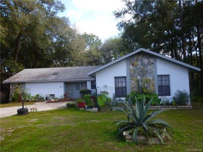 Inverness Single Family Home For Sale: 3941 S Apopka Avenue