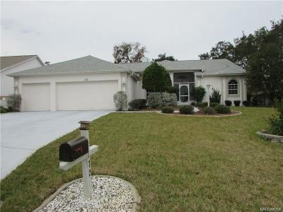 Lecanto FL Single Family Home For Sale: $198,500