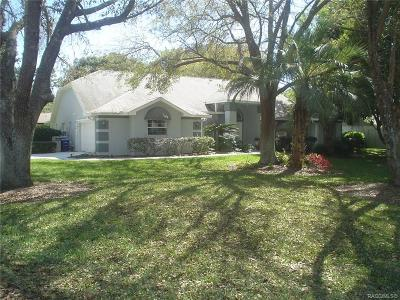 Sugarmill Woods Single Family Home For Sale