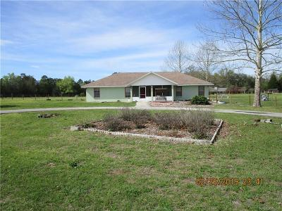 Lecanto Single Family Home For Sale: 7424 S Auto Cluck Point