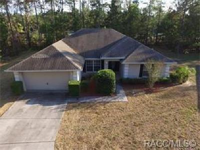 Homosassa Single Family Home For Sale: 12 Bellis Court