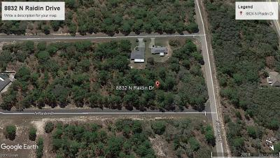 Residential Lots & Land For Sale: 8832 N Raidin Drive