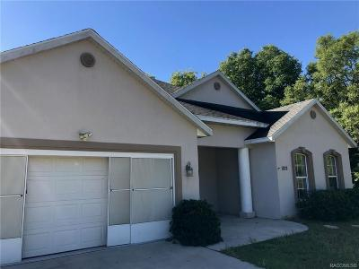 Citrus County Single Family Home For Sale: 1828 W Iron Gun Place