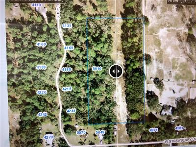 Homosassa Residential Lots & Land For Sale: 5010 W Grover Cleveland Boulevard