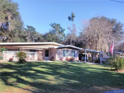 Hernando FL Single Family Home For Sale: $148,500