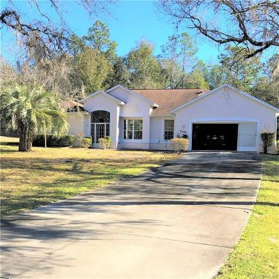 Homosassa, Dunnellon Single Family Home For Sale: 9780 SW 195th Circle