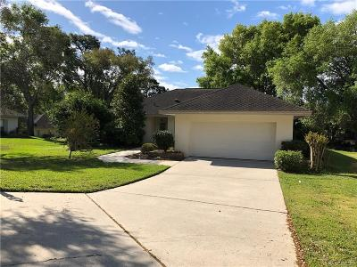 Lecanto Single Family Home For Sale: 3292 W Wildwood Bay Court