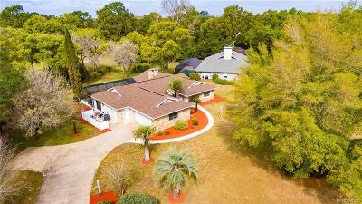 Homosassa Single Family Home For Sale: 14 Byrsonima Circle
