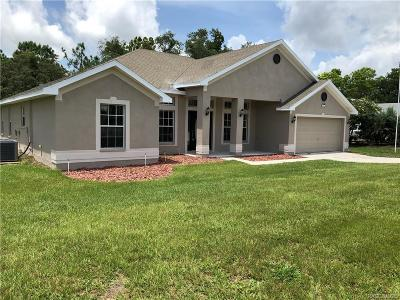Homosassa Single Family Home For Sale: 211 Linder Drive