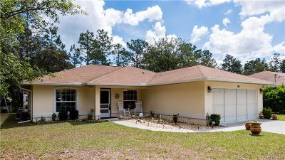 Citrus Springs Single Family Home For Sale: 7665 N Cricket Drive