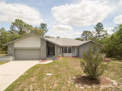 Homosassa Single Family Home For Auction: 5 Black Willow Court N