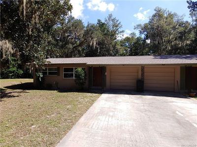 Crystal River Single Family Home For Sale: 909 N Appalachian Terrace