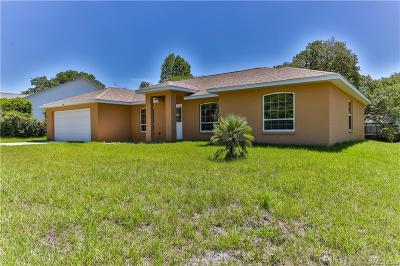 Lecanto Single Family Home For Sale: 5176 W Pitch Pine Court