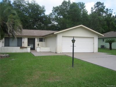 Citrus Springs Single Family Home For Sale: 1280 W Sorrento Drive