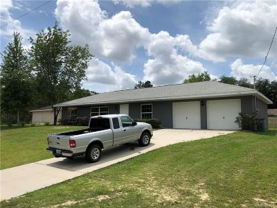 Citrus Springs Single Family Home For Sale: 3014 W Hampshire Boulevard