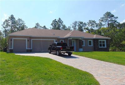 Beverly Hills FL Single Family Home Sold: $302,070
