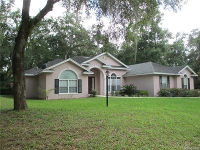 Crystal River Single Family Home For Sale: 12480 W Deodar Street