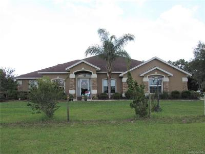 Homosassa, Dunnellon Single Family Home For Sale: 10379 N Circle M Ranchettes