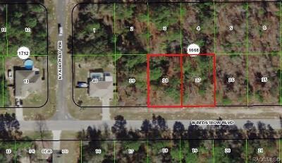 Citrus Springs Residential Lots & Land For Sale: 6629 & 6631 N Bedstrow Boulevard