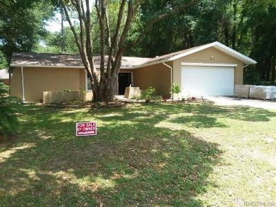 Citrus Springs Single Family Home For Sale: 9950 N Sandree Drive