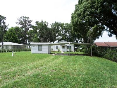 Homosassa, Dunnellon Single Family Home For Sale: 7629 W Riverbend Road