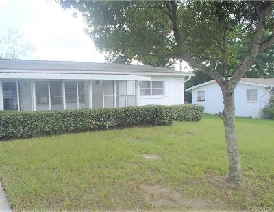 Beverly Hills FL Single Family Home Pending: $94,500