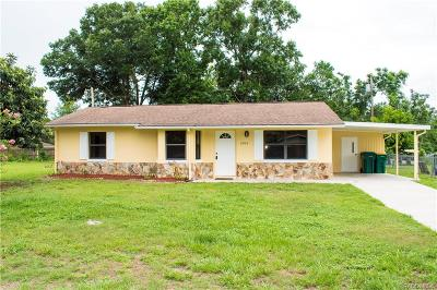 Inverness Single Family Home For Sale: 2903 Reagan Street