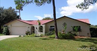 Crystal River Single Family Home For Sale: 3826 N Calusa Point
